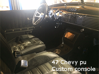 47 chevy cup holder modern center console
