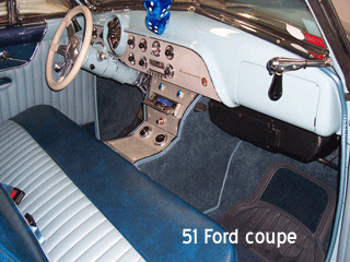 51 ford coupe bench seat console
