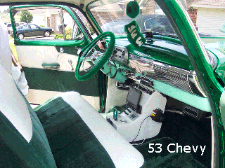 53 chevy bench seat console