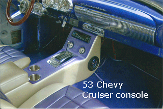 53 chevy center console