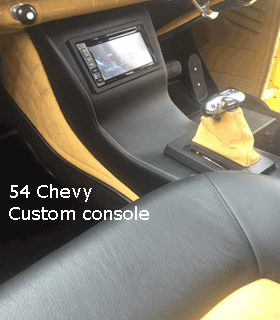 54 chevy center console