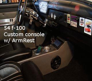 54 Ford f-100 console