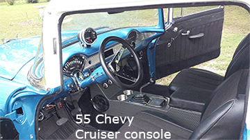 55 chevy center console