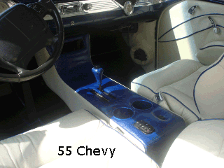 55 chevy belair console
