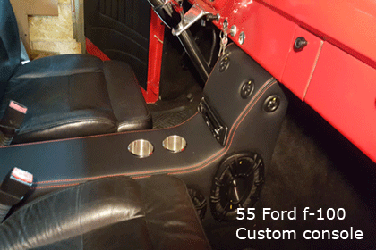 55 ford f 100 console