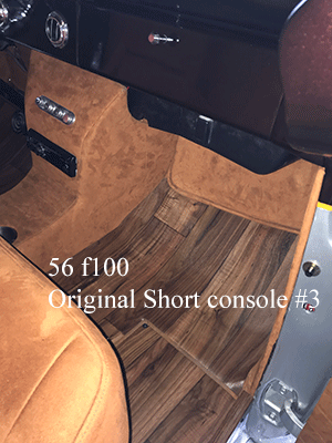 56 ford f100 bench seat cup holder console