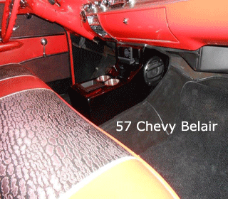 57 chevy belair bench seat console