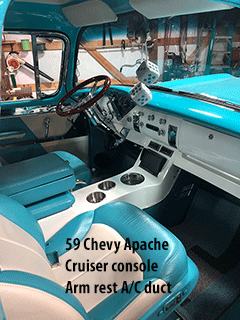 Chevy Apache cup holder console