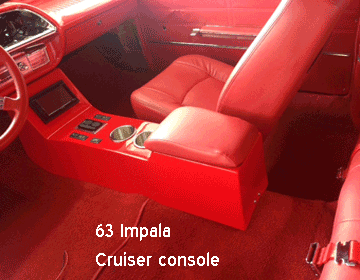 1963 chevy impala ss console with arm rest and cup holders