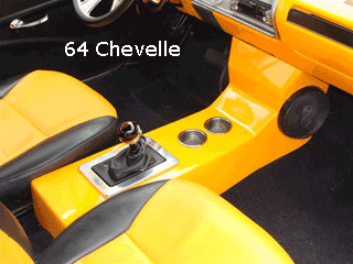 64 Chevelle cup holder center console