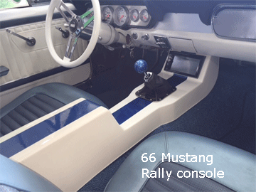 66 ford mustang center console