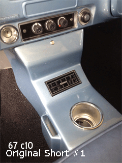 67 chevy c10 bench seat cup holder console