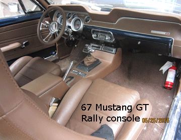 67 ford mustang center console