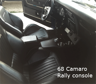 68 chevrolet camaro rally pro touring console
