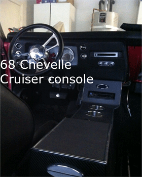 68 chevelle cup holder center console