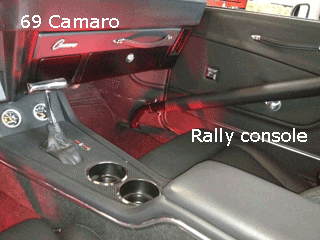 67 68 69 Camaro Center Console Firebird