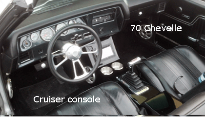 70 chevelle cup holder console