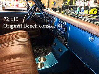 72 chevy c10 bench seat cup holder console