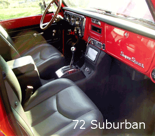 72 chevy suburban modern center console