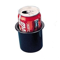 drink holder black plastic coke